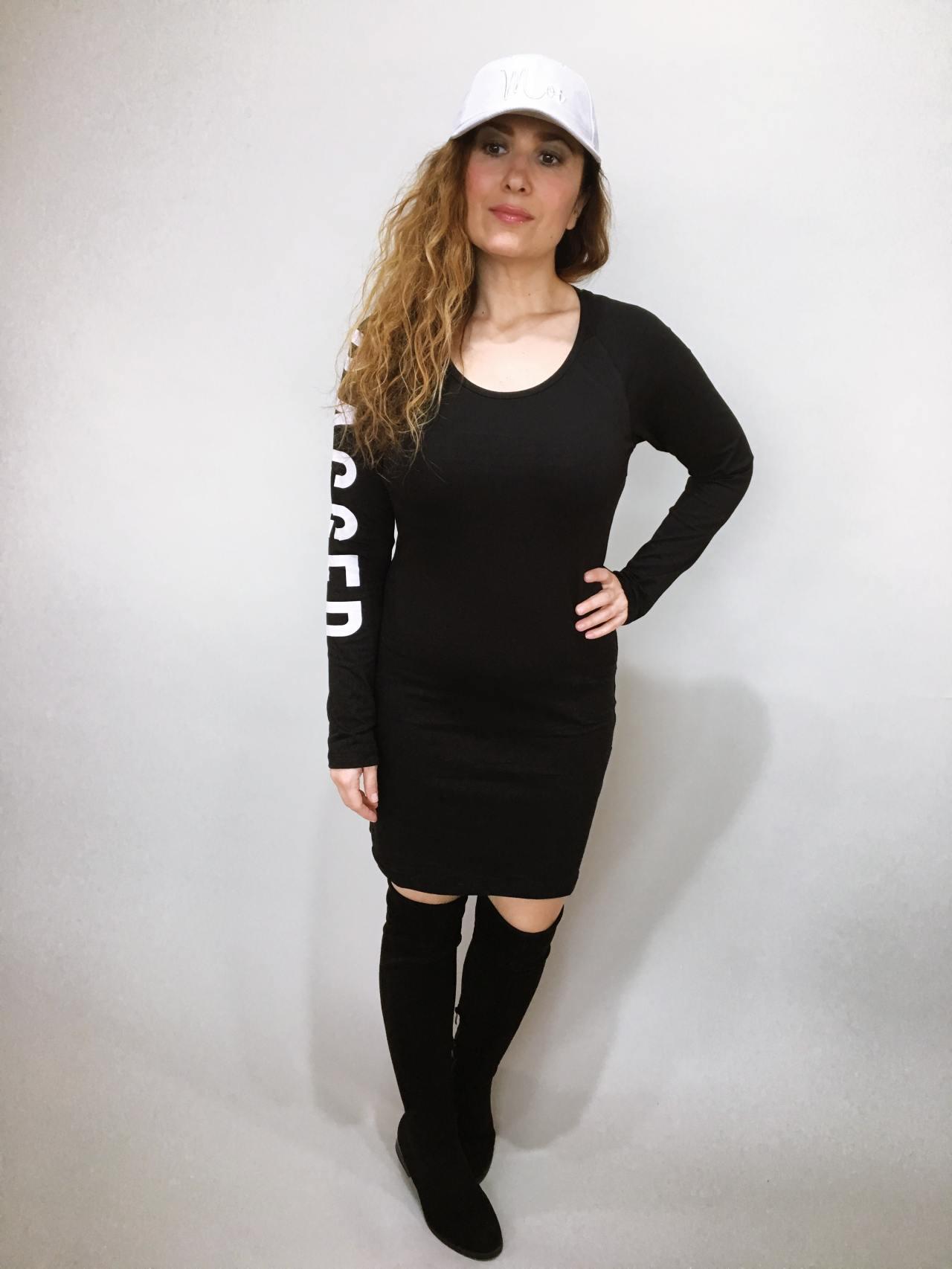Šaty Bagged černé 08