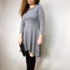 Šaty Carmen šedé 02