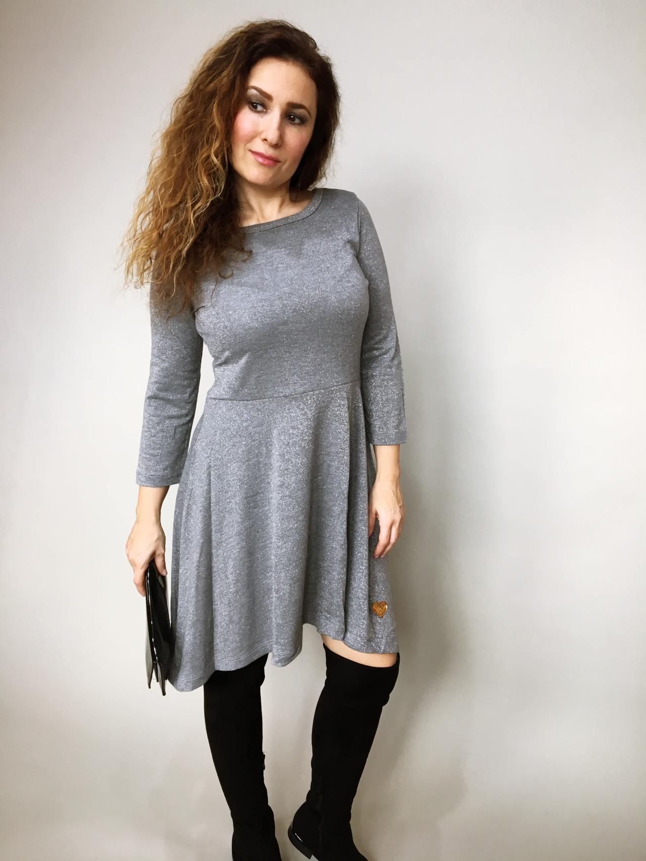 Šaty Carmen šedé 04