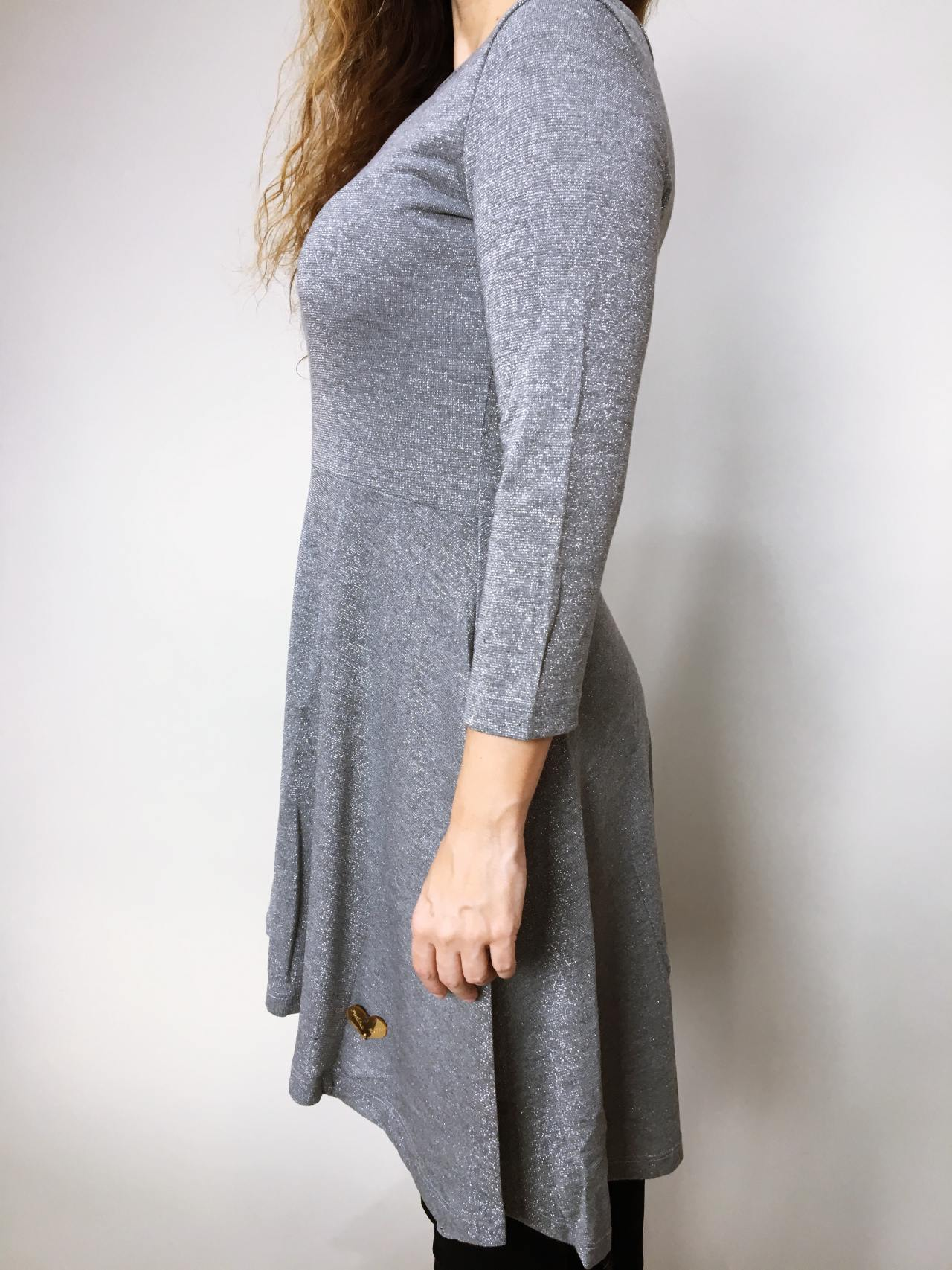 Šaty Carmen šedé 06