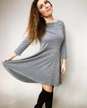 Šaty Carmen šedé 08