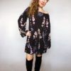 Šaty Flowers černé 01