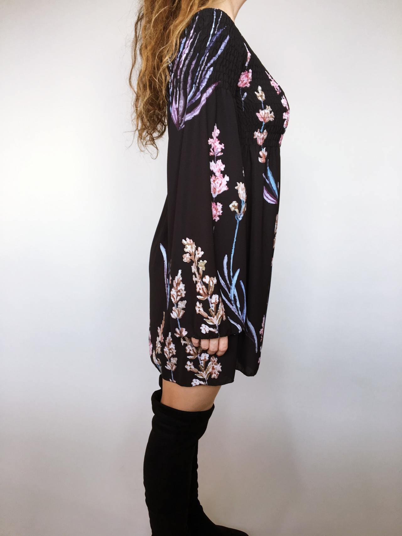Šaty Flowers černé 03