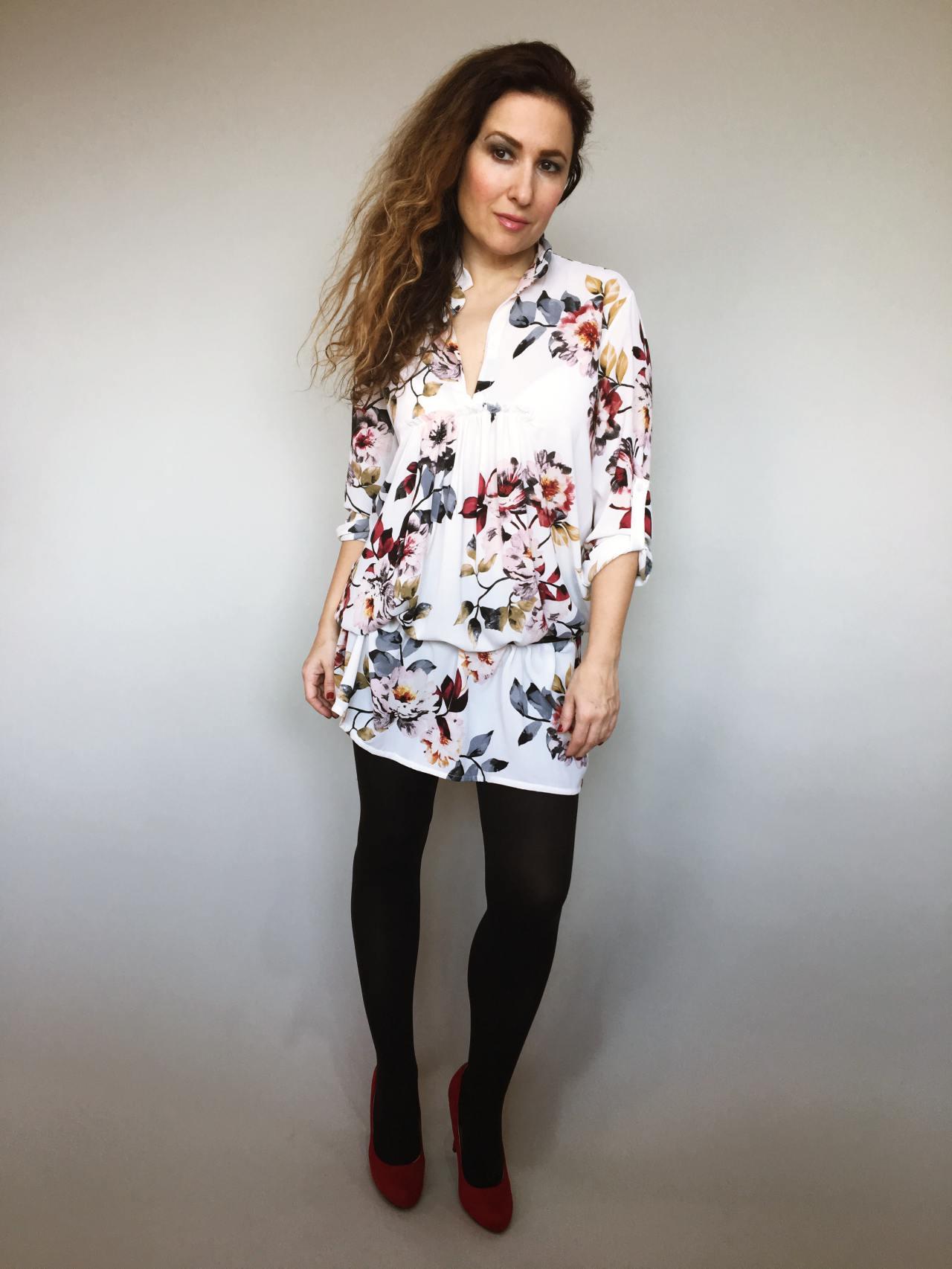 Šaty Jane s květy 03