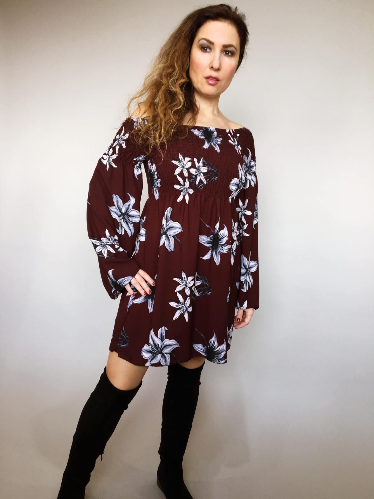Šaty Lilie bordó 01