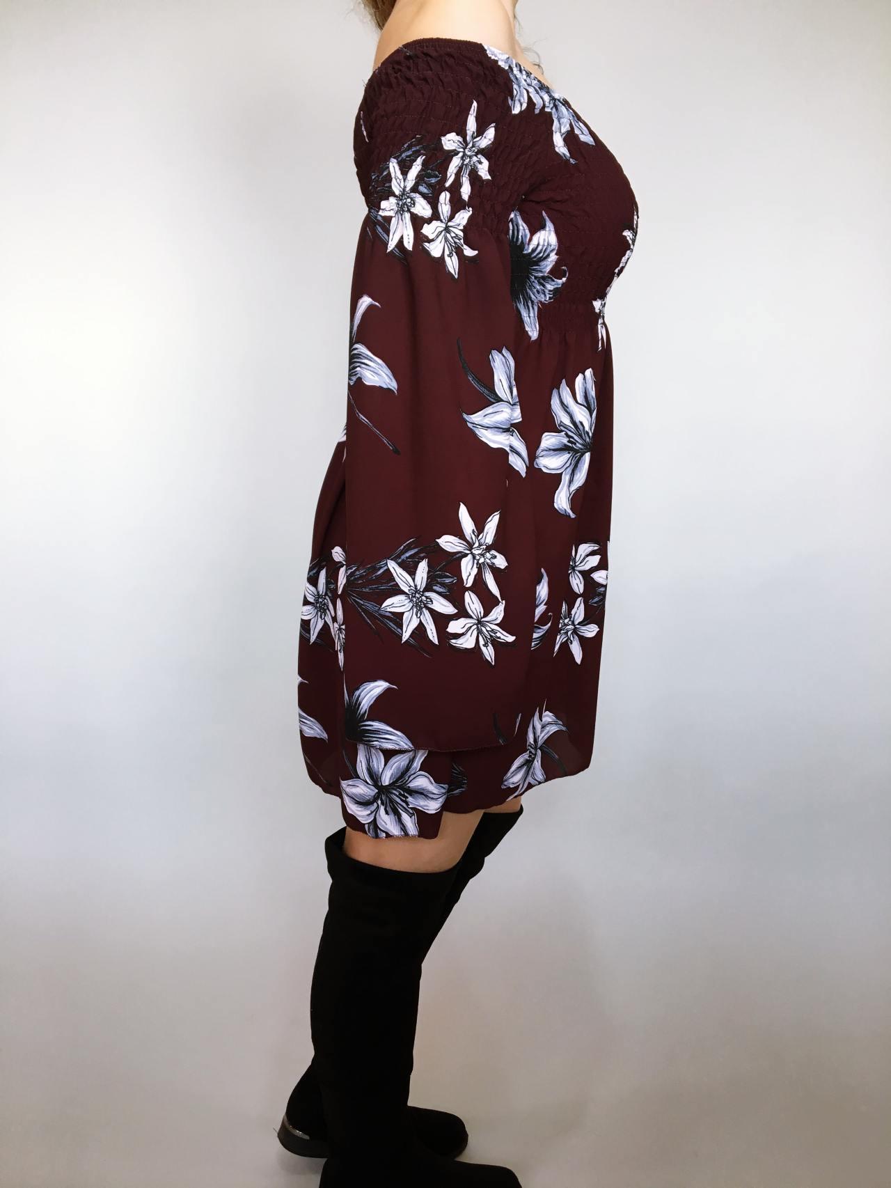 Šaty Lilie bordó 03