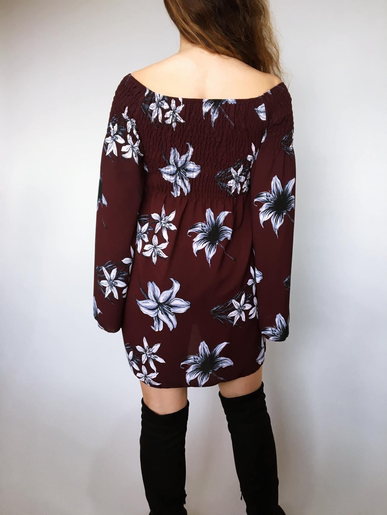 Šaty Lilie bordó 04