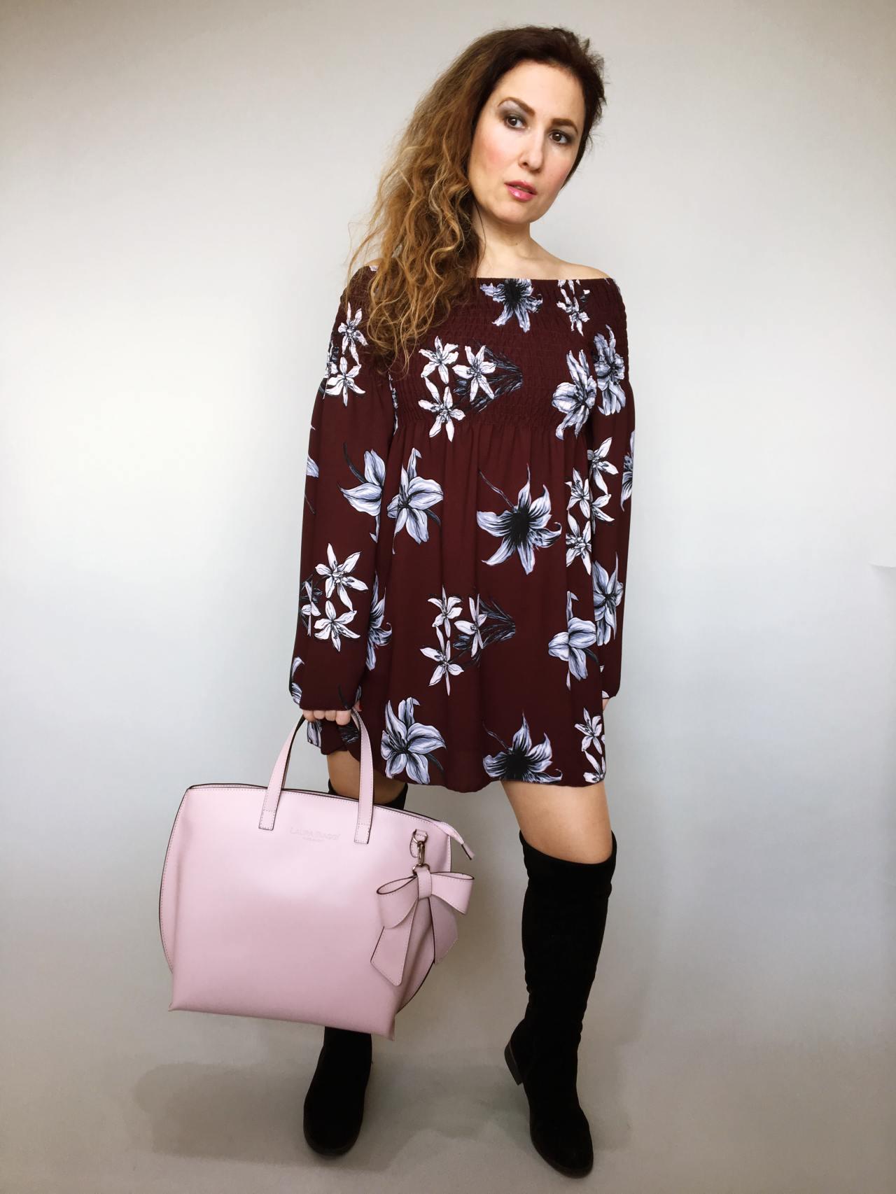 Šaty Lilie bordó 05