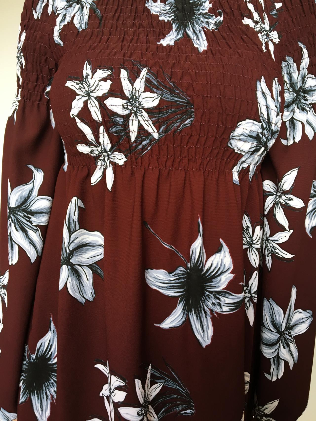 Šaty Lilie bordó 06