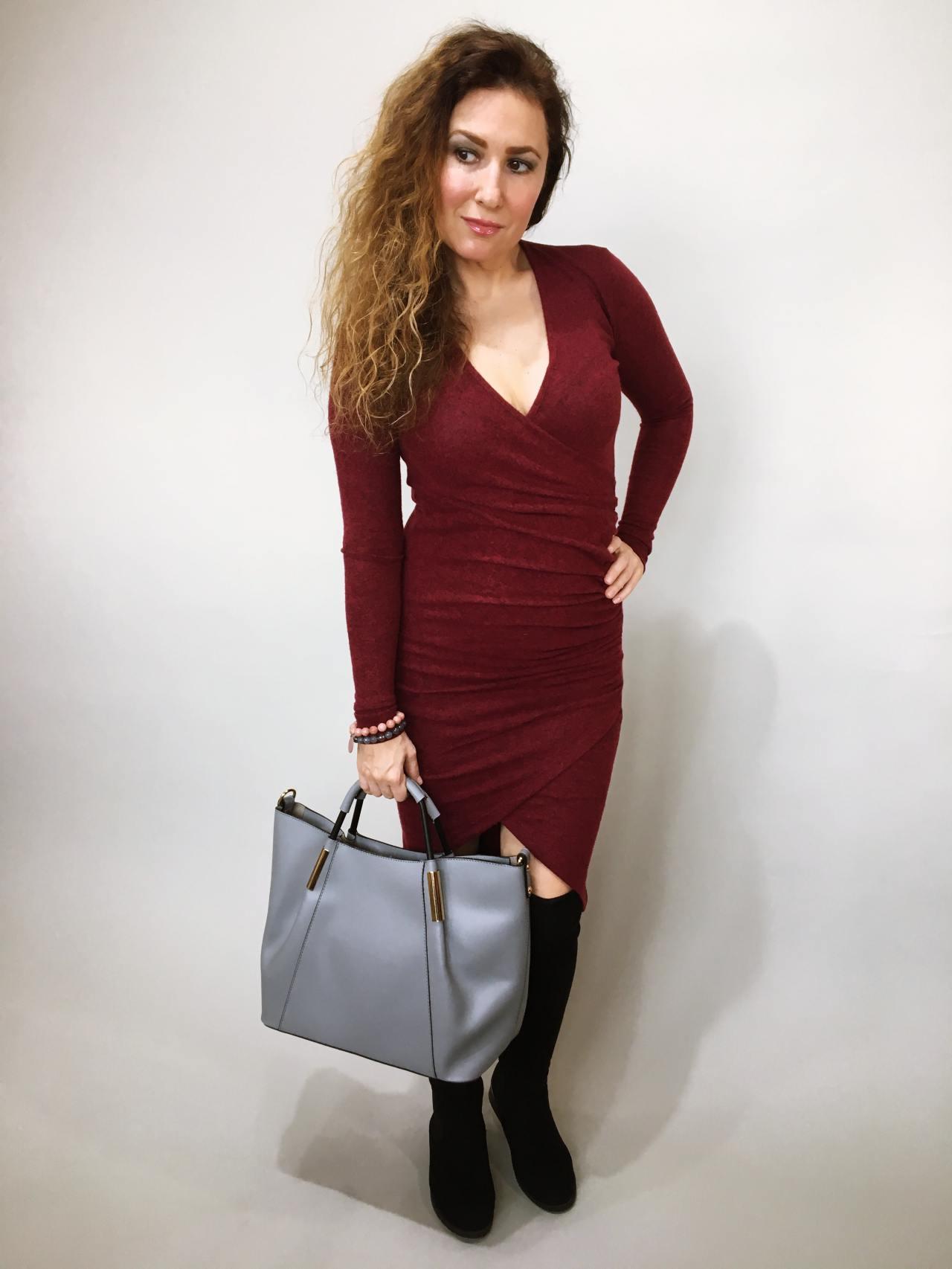 Šaty Lisa bordó 01