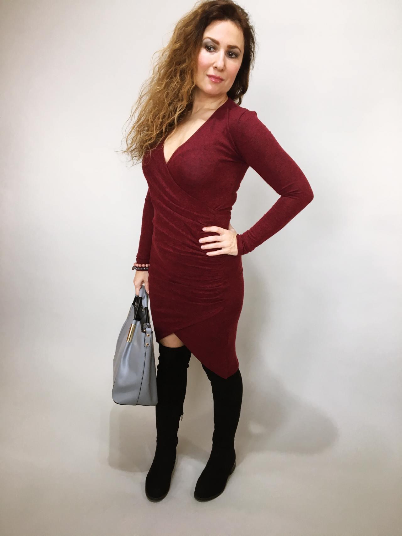 Šaty Lisa bordó 02