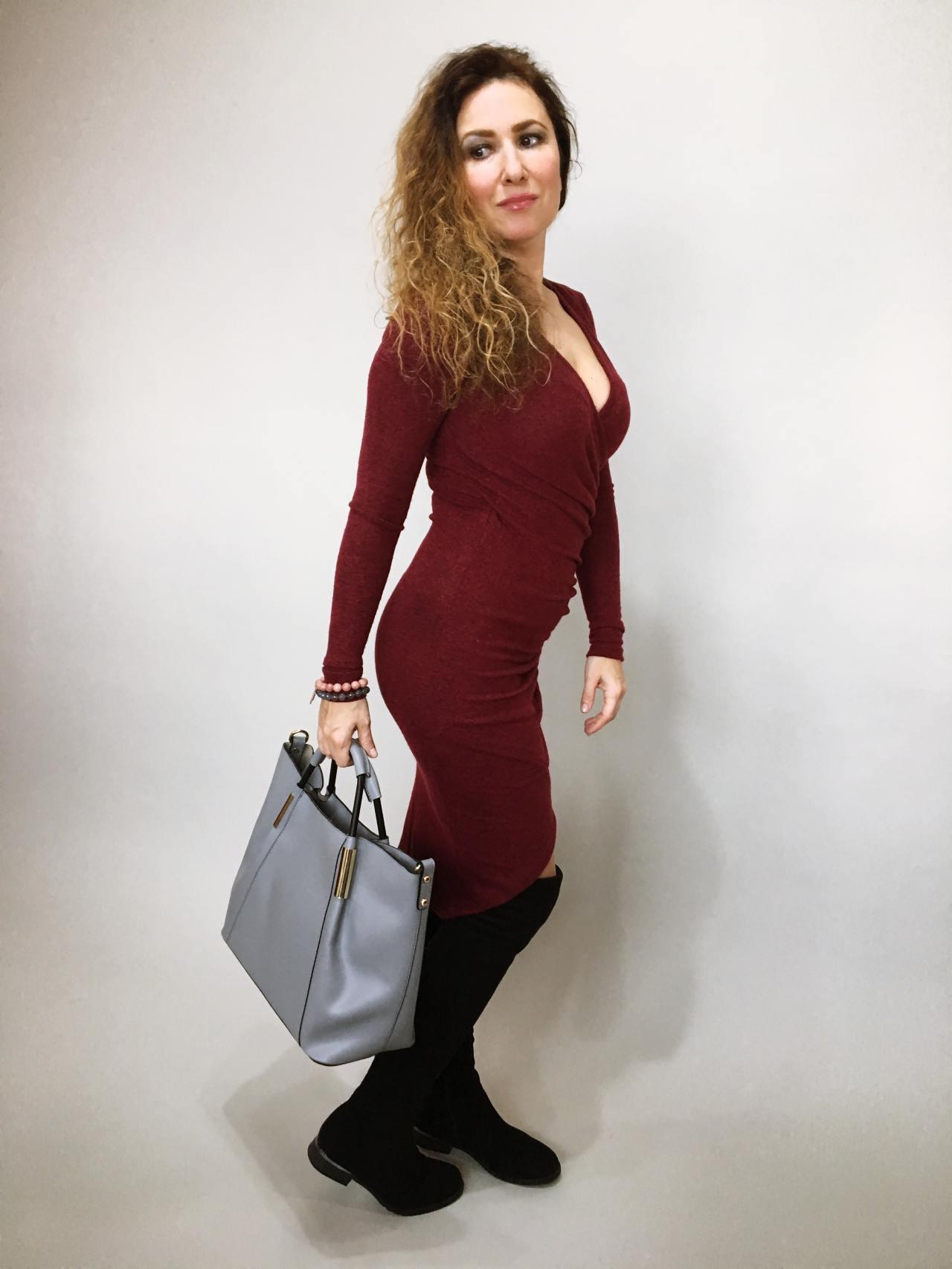 Šaty Lisa bordó 03