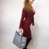 Šaty Lisa bordó 04