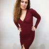 Šaty Lisa bordó 05