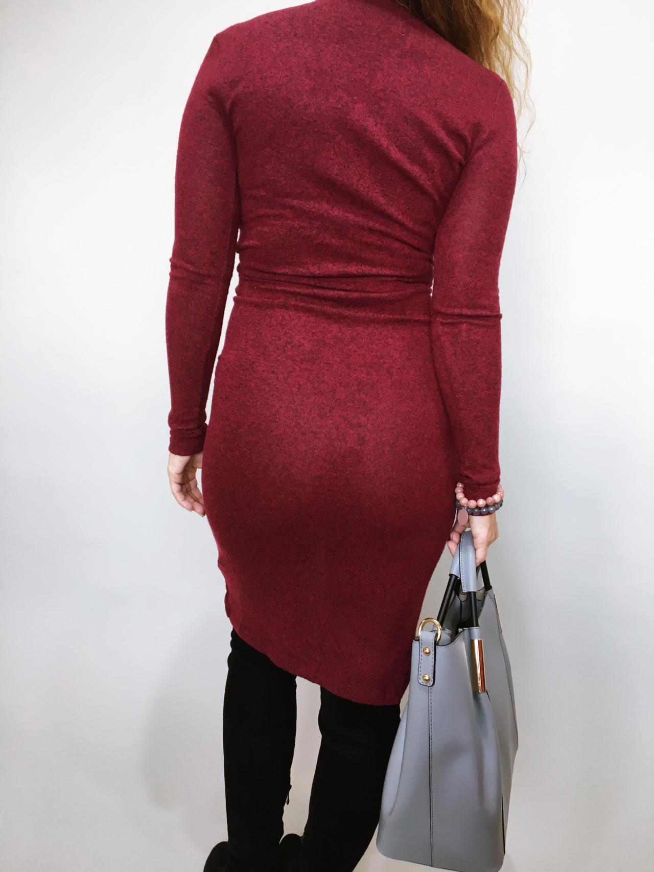 Šaty Lisa bordó 07