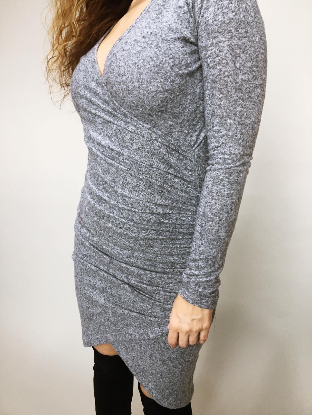 Šaty Lisa šedé 06
