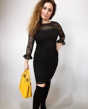 Šaty krajkové černé 02