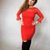 Šaty krajkové červené 05