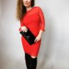 Šaty krajkové červené 06