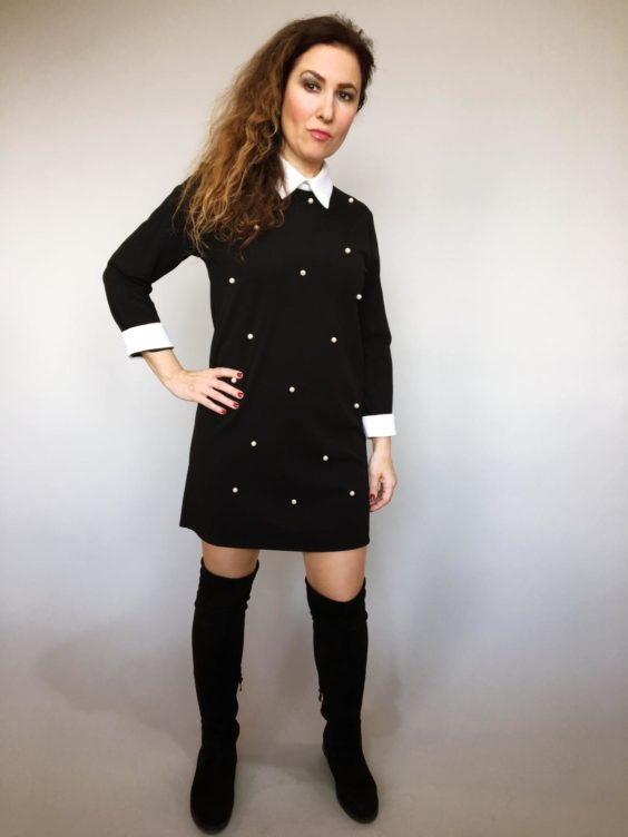 Šaty s perličkami 01
