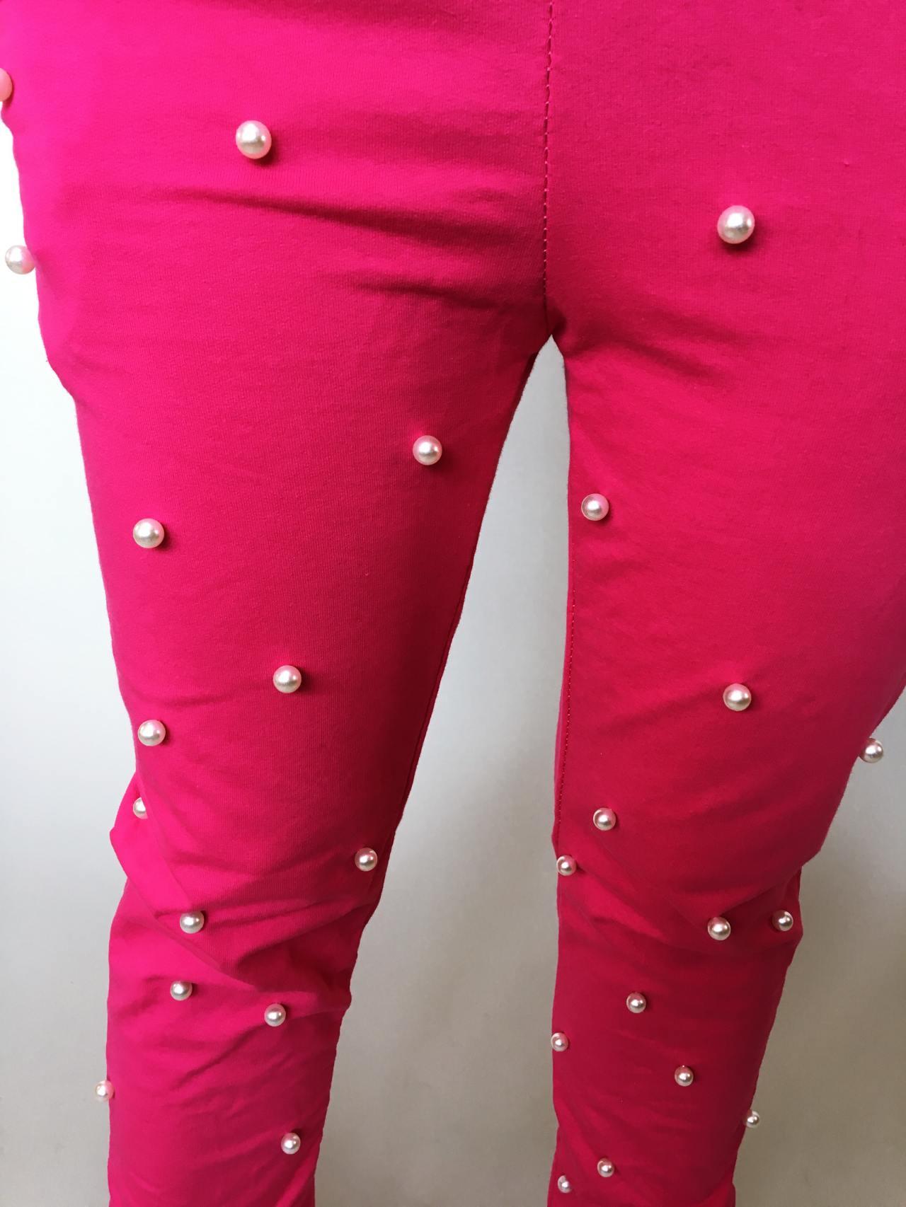 Tepláky Pearls růžové 04