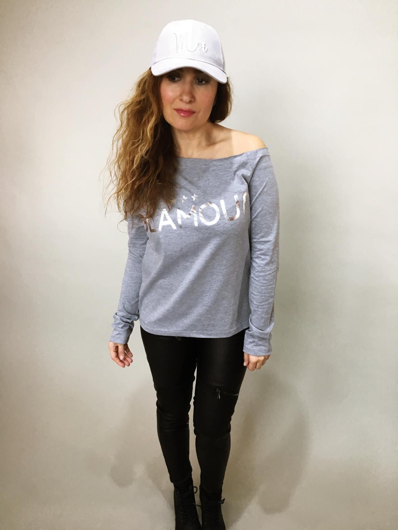 Triko Glamour šedé 01