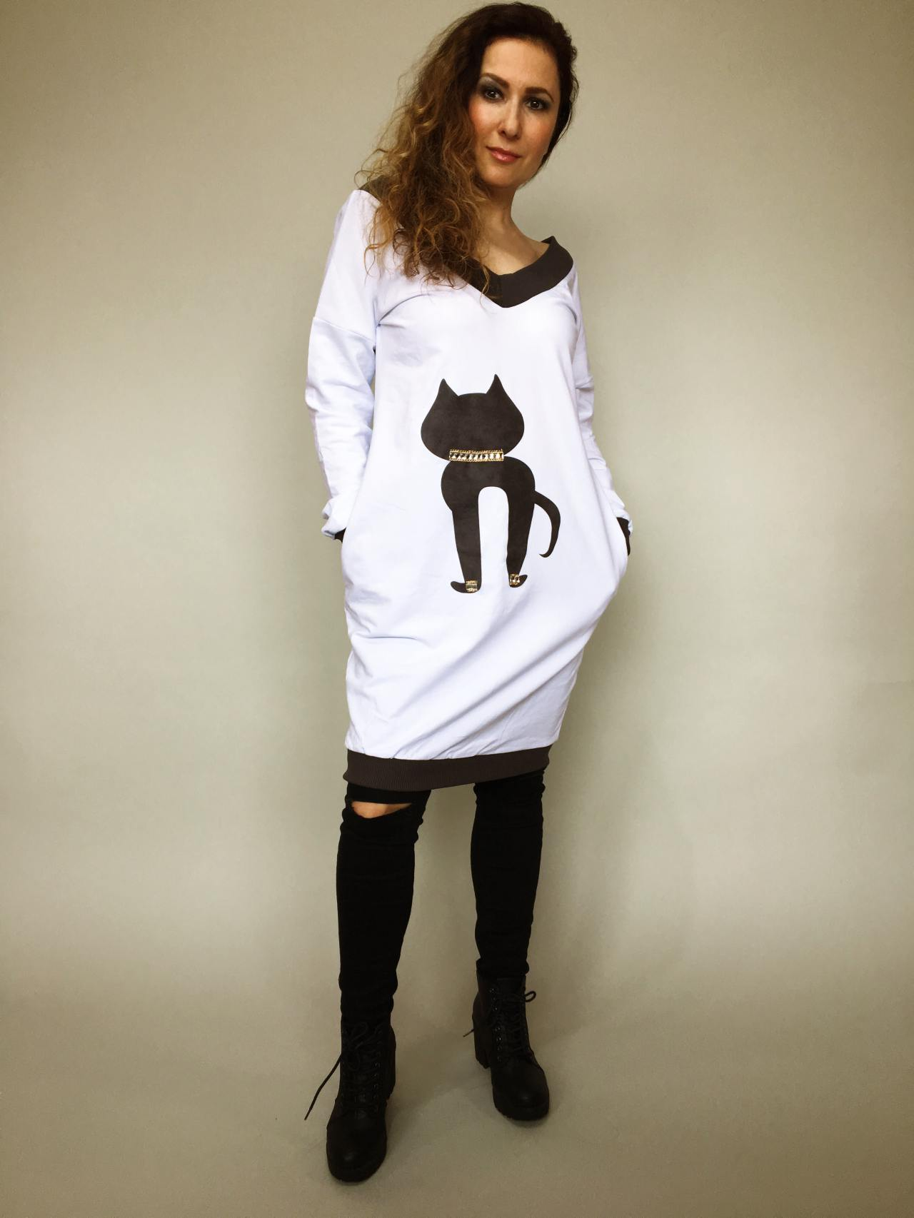 Tunika Kitty bílá 01