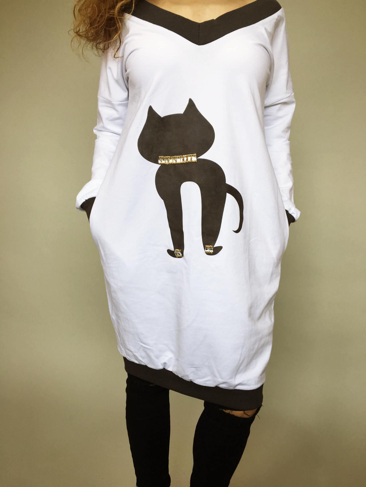 Tunika Kitty bílá 02