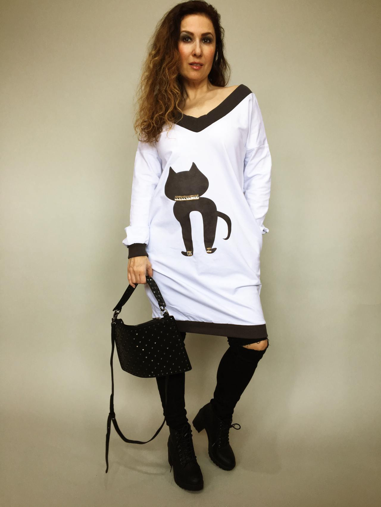 Tunika Kitty bílá 05