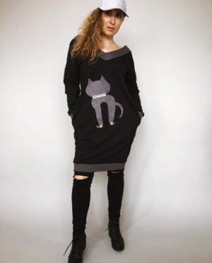 Tunika Kitty černá 01