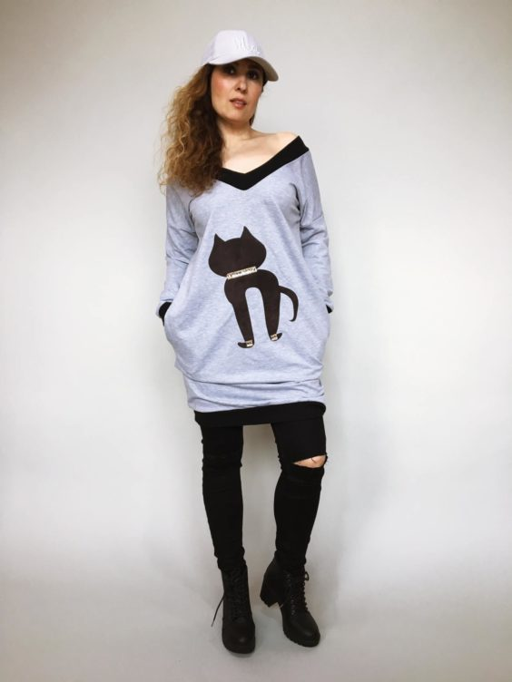Tunika Kitty šedá 01