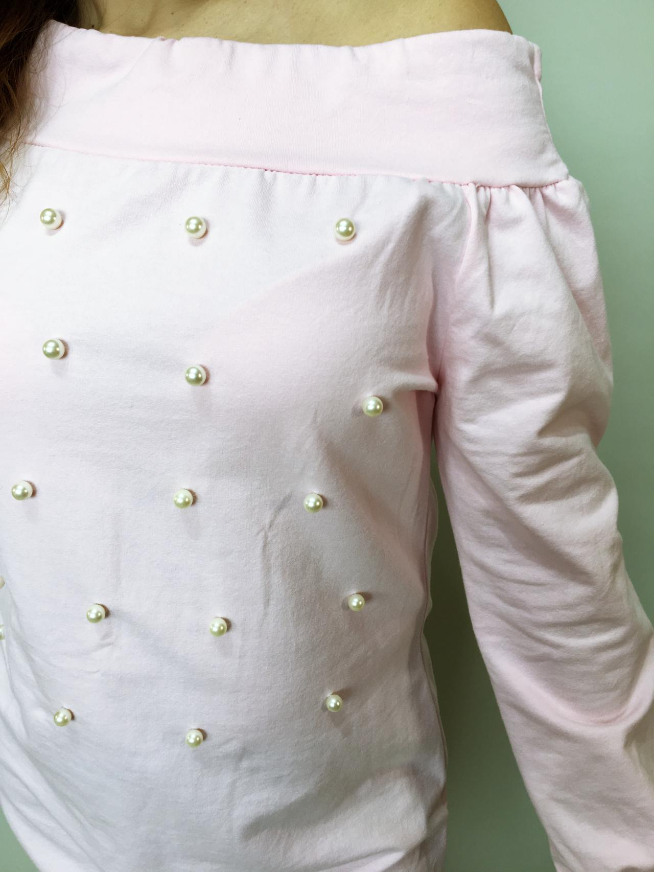 Tunika Pearls růžová 06