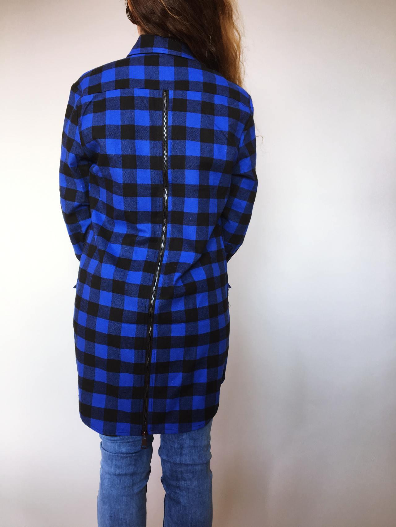 Tunika se zipem modro černá 05