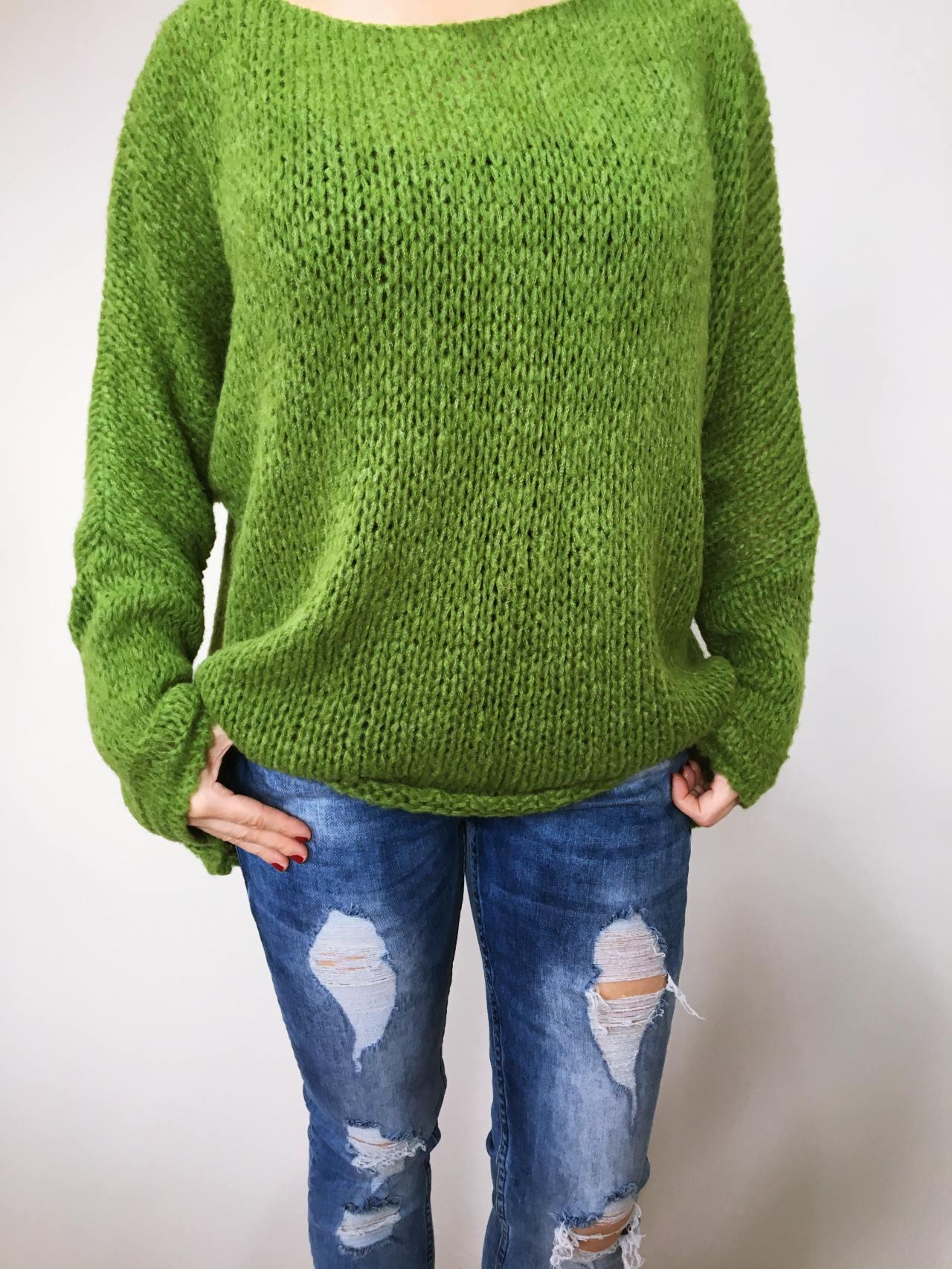 Zelený svetr Merlin 02