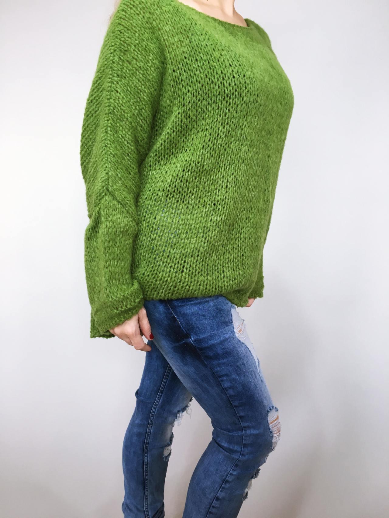 Zelený svetr Merlin 03
