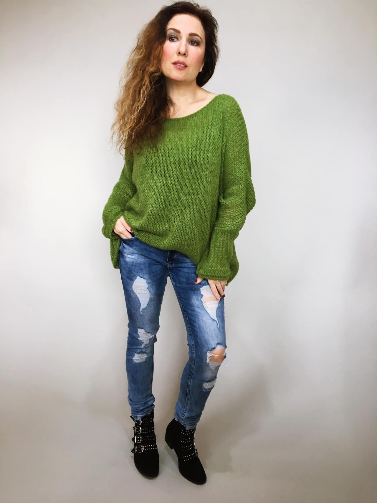 951bfb927a7 Zelený svetr Merlin – Simm-Fashion.cz