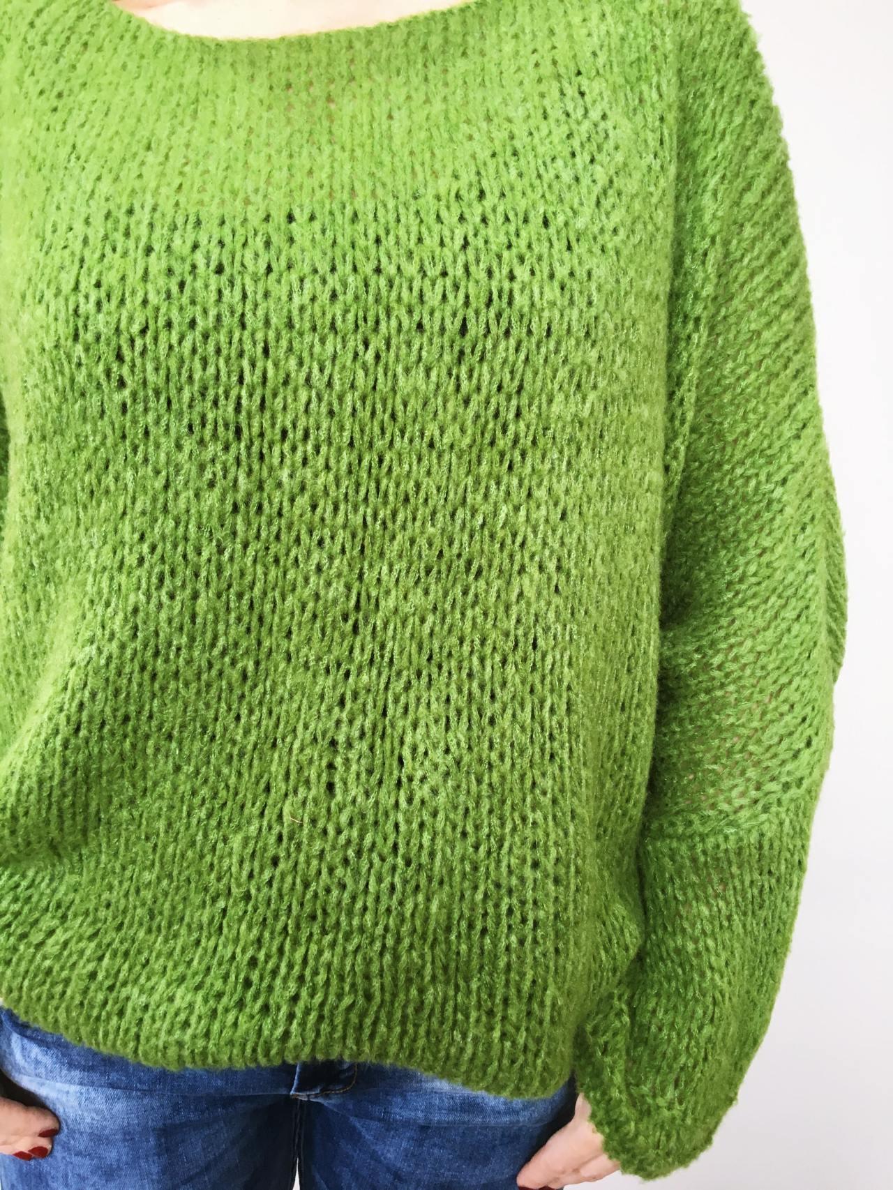 Zelený svetr Merlin 06