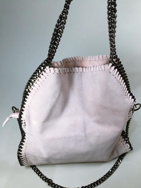 Kožená kabelka Callie béžová 01