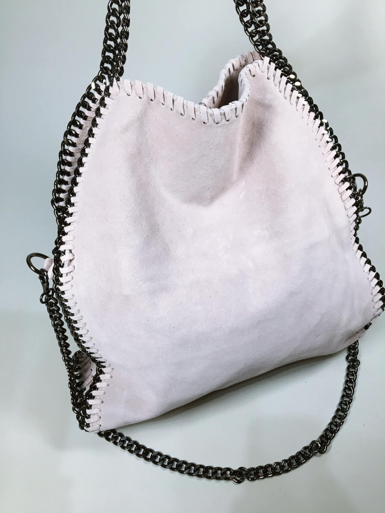 Kožená kabelka Callie béžová 02