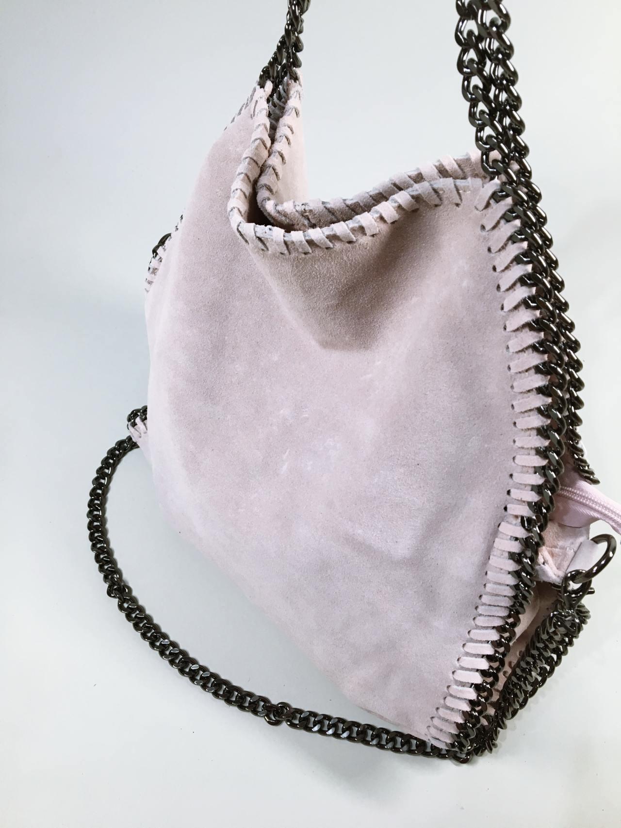 Kožená kabelka Callie béžová 03