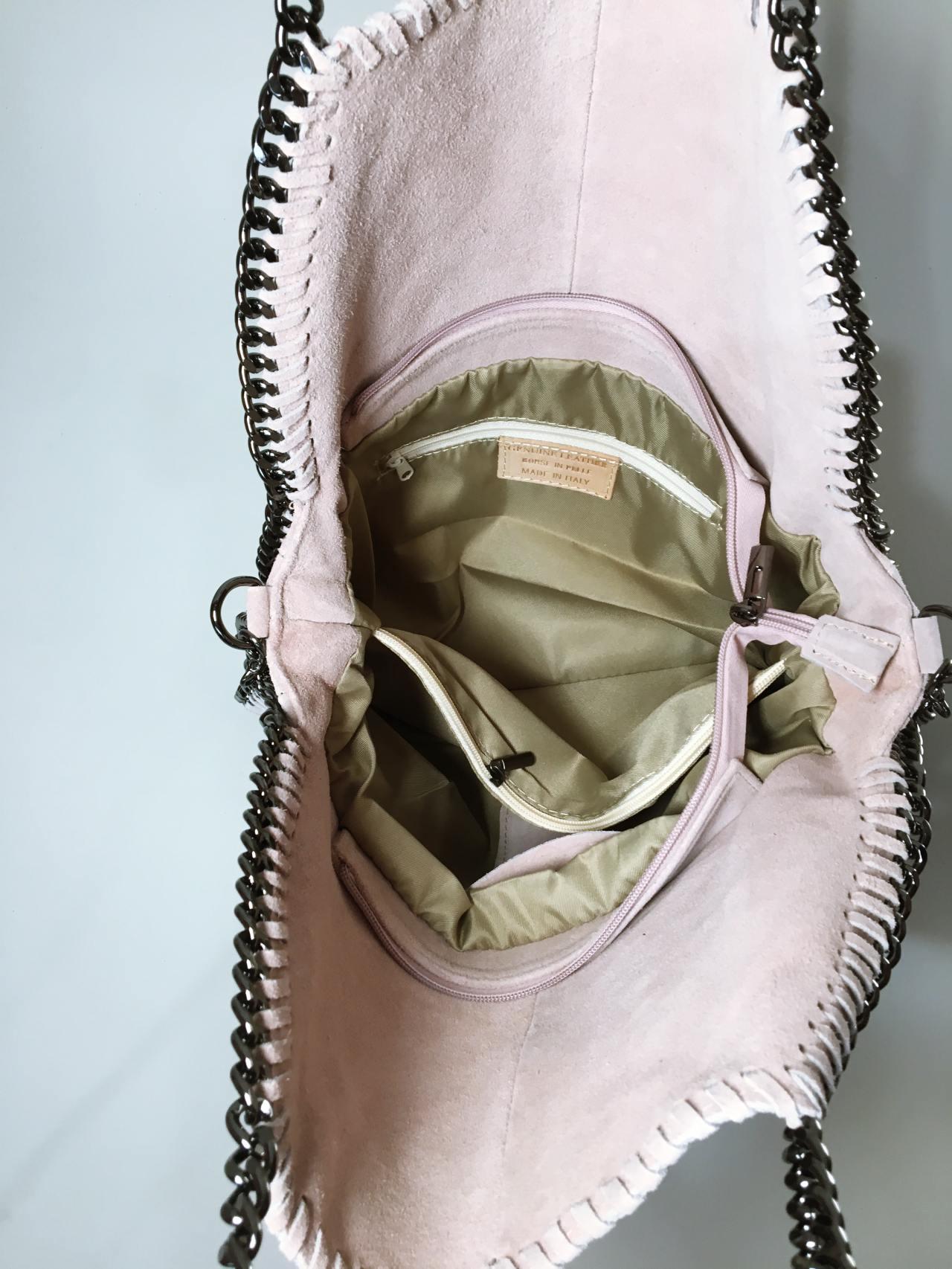 Kožená kabelka Callie béžová 04