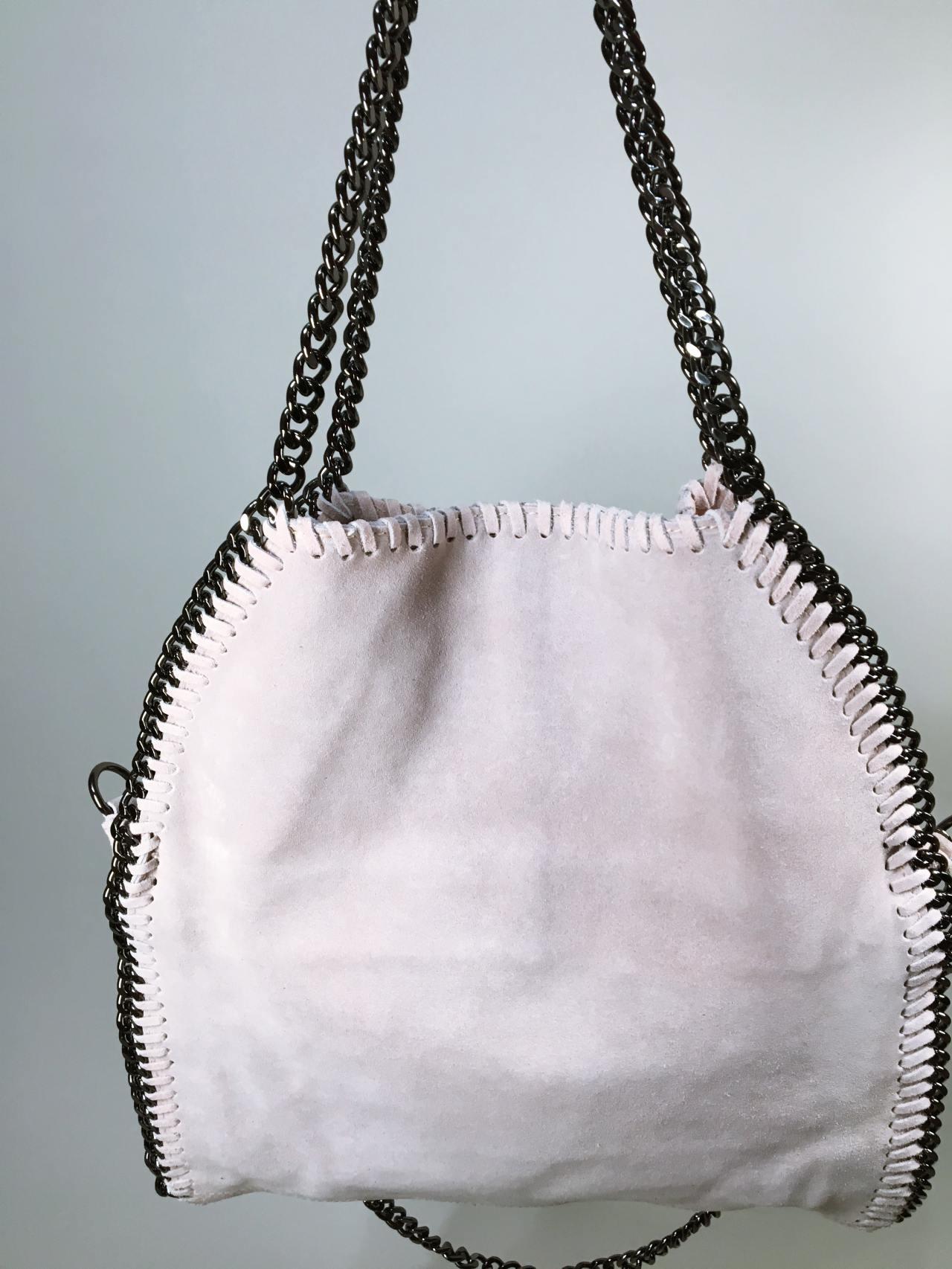 Kožená kabelka Callie béžová 05