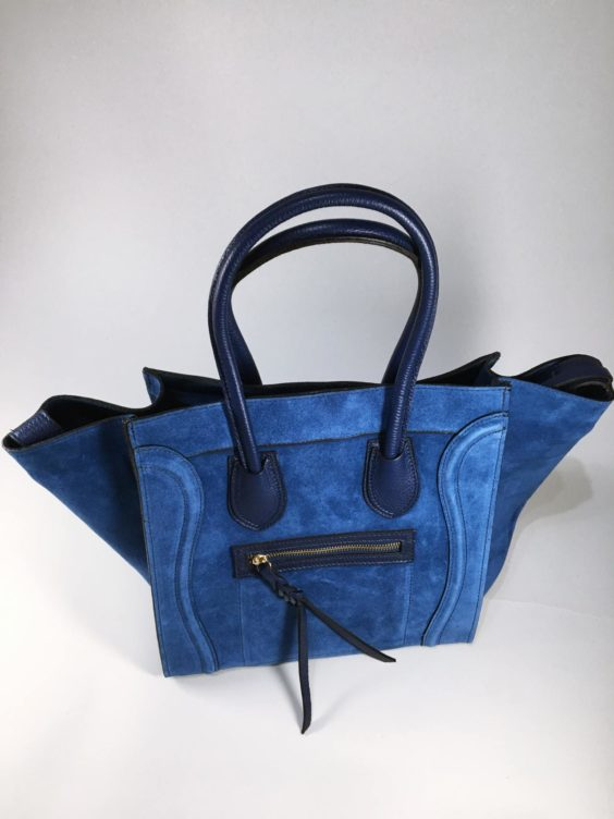 Kožená kabelka Candy modrá 01