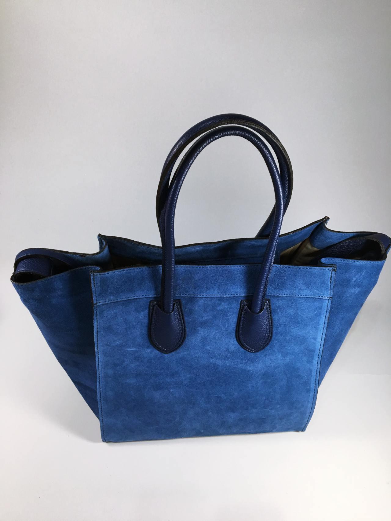 Kožená kabelka Candy modrá 03