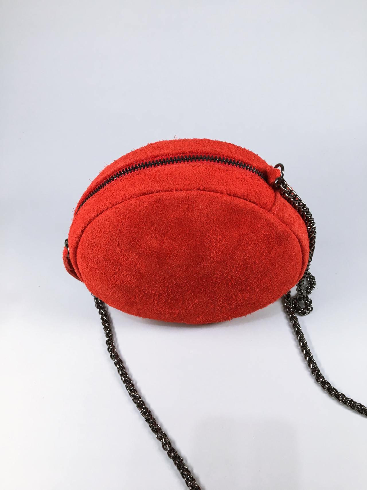 Kožená kabelka Honey červená 03