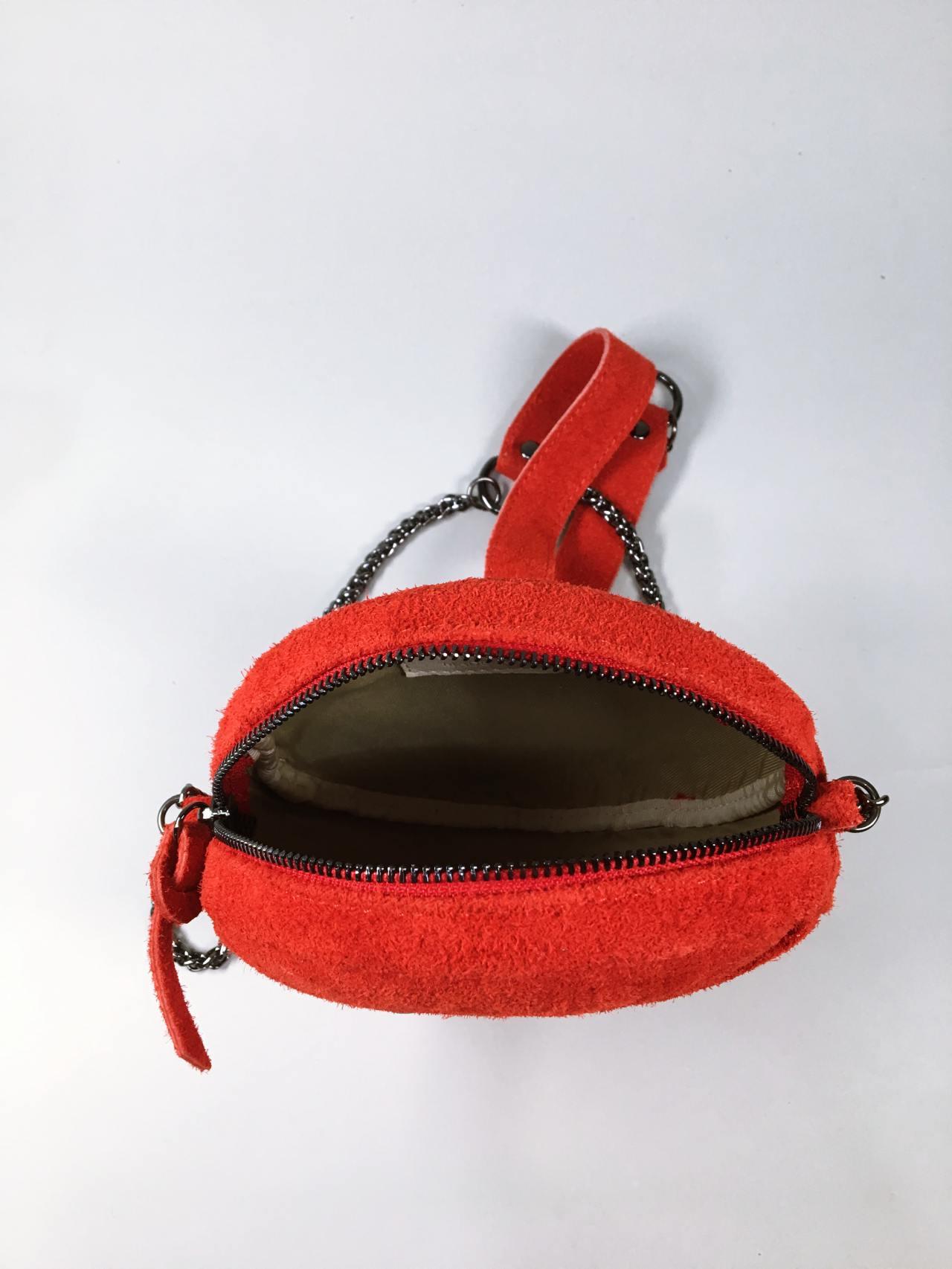 Kožená kabelka Honey červená 04