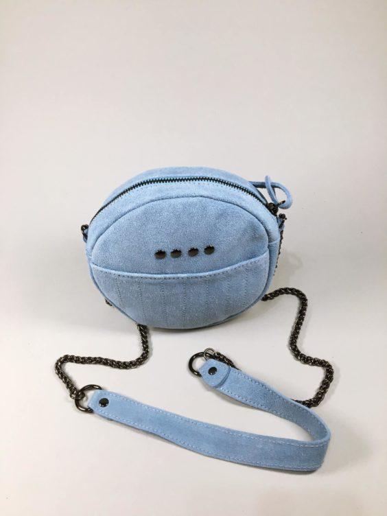 Kožená kabelka Honey světle modrá 01