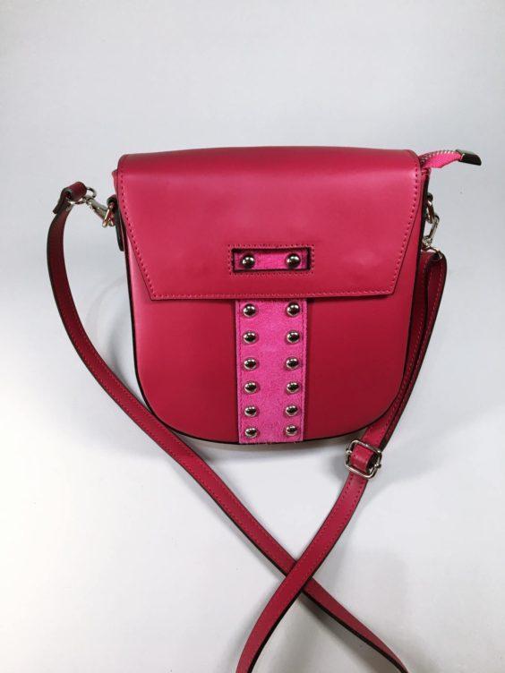 Kožená kabelka Karra červená 01