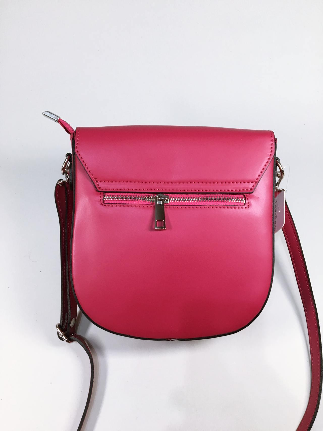 Kožená kabelka Karra červená 03