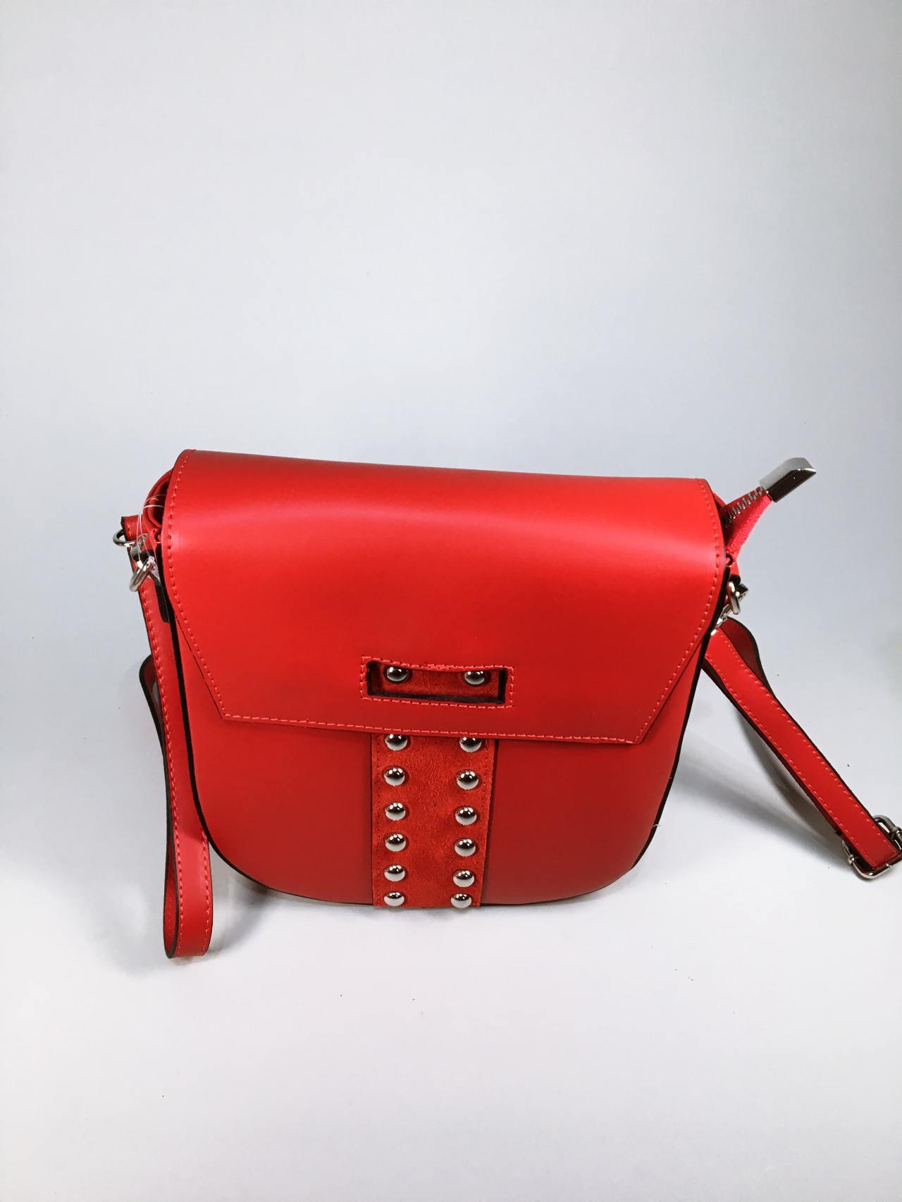 Kožená kabelka Karra červená – Simm-Fashion.cz 16f70325ca
